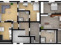 3D budoucí stav 2. patro-podkroví s byty - Prodej domu v osobním vlastnictví 457 m², Svitavy