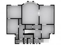 současný stav 1. patra - Prodej domu v osobním vlastnictví 457 m², Svitavy