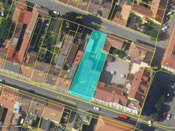 zobrazení nemovitostí v katastru nemovitostí - Prodej obchodních prostor 816 m², Nový Bydžov
