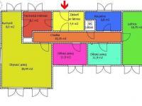 orientační půdorys - Prodej domu v osobním vlastnictví 123 m², Dolní Dvořiště