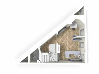 3D model přízemí - Prodej komerčního objektu 126 m², Česká Třebová