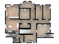 3D budoucí stav suterénu s byty - Prodej domu v osobním vlastnictví 457 m², Svitavy