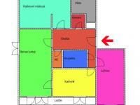 orientační půdorys - Prodej bytu 3+1 v osobním vlastnictví 94 m², Dolní Dvořiště