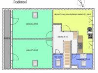 půdorys podkroví - Prodej chaty / chalupy 238 m², Vlachovo Březí