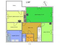 půdorys 1.NP - Prodej chaty / chalupy 238 m², Vlachovo Březí
