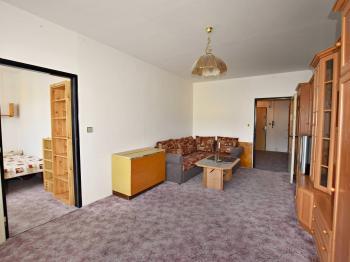 obývák + pokoj 2 - Prodej bytu 3+1 v osobním vlastnictví 65 m², Větřní