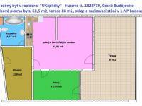 půdoys - Prodej bytu 2+kk v osobním vlastnictví 101 m², České Budějovice