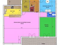 půdorys přízemí - Prodej domu v osobním vlastnictví 172 m², Ločenice