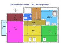 půdorys podkroví - Prodej domu v osobním vlastnictví 172 m², Ločenice