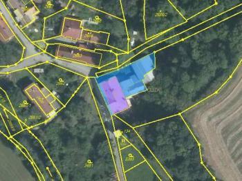 Zakreslení nemovitosti v katastru nemovitostí - Prodej penzionu 191 m², Podbřezí
