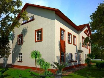 Vizualizace dokončené rekonstrukce stavby - Prodej penzionu 191 m², Podbřezí