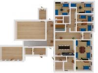Vizualizace 1. NP - Prodej penzionu 191 m², Podbřezí
