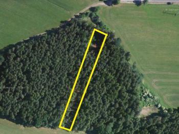 ortoto mapa se zákresem parcely 1288/3 - Prodej pozemku 9831 m², Drahonice