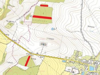 mapa - Prodej pozemku 9831 m², Drahonice