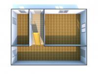 Vizualizace 1. NP - současný stav - Prodej domu v osobním vlastnictví 147 m², Rychnov nad Kněžnou