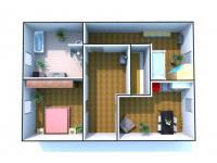 Vizualizace 2. NP - Prodej domu v osobním vlastnictví 147 m², Rychnov nad Kněžnou