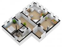 vizualizace nemovitosti - Prodej chaty / chalupy 81 m², Červený Kostelec