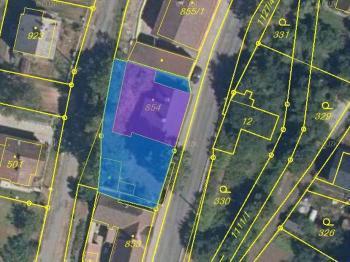 Zobrazení nemovitostí dle katastru - Prodej chaty / chalupy 81 m², Červený Kostelec