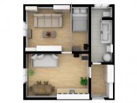 Prodej bytu 1+1 Lanškroun 3D model možno vybavit - Prodej bytu 1+1 v osobním vlastnictví 35 m², Lanškroun