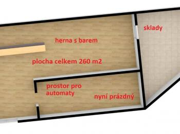Pronájem jiných prostor 260 m², Ústí nad Orlicí