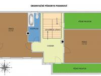 Orientační půdorys podkroví - Prodej domu v osobním vlastnictví 140 m², Žinkovy