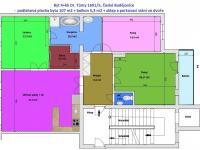 orientačřní půdorys bytu - Prodej bytu 4+kk v osobním vlastnictví 107 m², České Budějovice