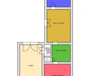 plánek přízemí - Prodej domu v osobním vlastnictví 424 m², Trhové Sviny
