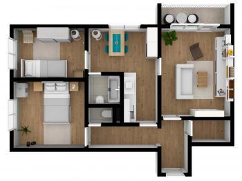 pronájem bytu 3+1, Šumperk - Pronájem bytu 3+1 v osobním vlastnictví 61 m², Šumperk