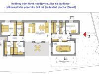 dispozice domu - Prodej domu v osobním vlastnictví 138 m², České Budějovice