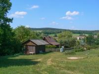 výhled z chaty - Prodej chaty / chalupy 21 m², Hluboká nad Vltavou