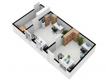 Pronájem komerčního prostoru (kanceláře) v osobním vlastnictví, 40 m2, Česká Třebová
