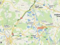 Mapa lokality - Prodej pozemku 9700 m², Novosedly nad Nežárkou