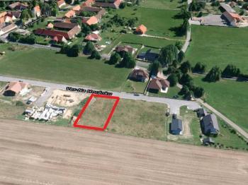 pohled z výšky - Prodej pozemku 835 m², Vrábče