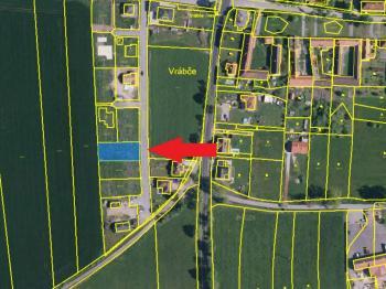 katastrální mapa - Prodej pozemku 835 m², Vrábče