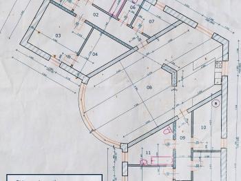 půdorys domu - projekt stavby - Prodej domu v osobním vlastnictví 177 m², Všemyslice