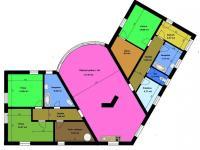 půdorys - Prodej domu v osobním vlastnictví 177 m², Všemyslice