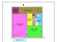 půdorys bytu - Prodej bytu 2+kk v osobním vlastnictví 53 m², České Budějovice