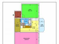 orientační půdorys bytu - Prodej bytu 2+1 v osobním vlastnictví 57 m², České Budějovice