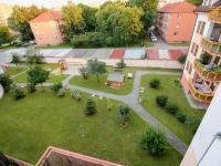 výhled  z jižní terasy - Pronájem bytu 3+kk v osobním vlastnictví 70 m², České Budějovice