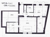 Plánek bytu (Prodej bytu 4+1 v osobním vlastnictví 174 m², Praha 6 - Bubeneč)