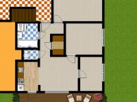 současná vizualizace bytu (Prodej bytu 4+kk v osobním vlastnictví 83 m², Velké Popovice)