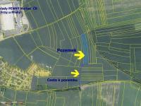 Umístění pozemku  (Prodej pozemku 11775 m², Jirny)