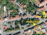 Plánek s umístěním (Prodej hotelu 2197 m², Kostelec nad Černými lesy)