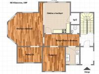 Půdorys 1NP (Prodej domu v osobním vlastnictví 351 m², Praha 9 - Klánovice)