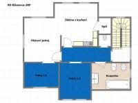 Půdorys 2NP (Prodej domu v osobním vlastnictví 351 m², Praha 9 - Klánovice)
