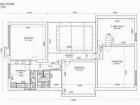 půdorys 1.patro (Prodej domu v osobním vlastnictví 448 m², Šestajovice)