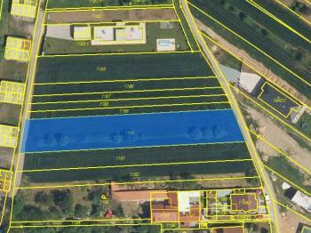 Katastrální mapa - Prodej pozemku 2305 m², Rajhrad