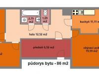 Pronájem bytu 3+1 v družstevním vlastnictví 86 m², Praha 5 - Stodůlky