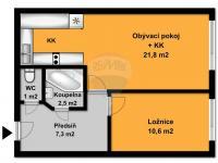 Pronájem bytu 2+kk v osobním vlastnictví 48 m², Praha 9 - Kyje