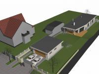 vizualizace nového domu (Prodej domu v osobním vlastnictví 200 m², Šestajovice)